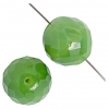 Fire polished Beads 18mm Green Opal Natural